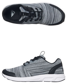 BLACK GREY WHITE MENS FOOTWEAR QUIKSILVER SNEAKERS - AQYS700034XKSW