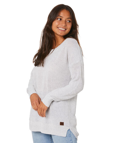 LIGH GREY HEATHER WOMENS CLOTHING RIP CURL JUMPERS - GSWEL13233