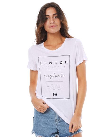 WHITE WOMENS CLOTHING ELWOOD TEES - W74107WHT