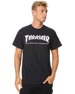 BLACK MENS CLOTHING THRASHER TEES - 20065101BLK