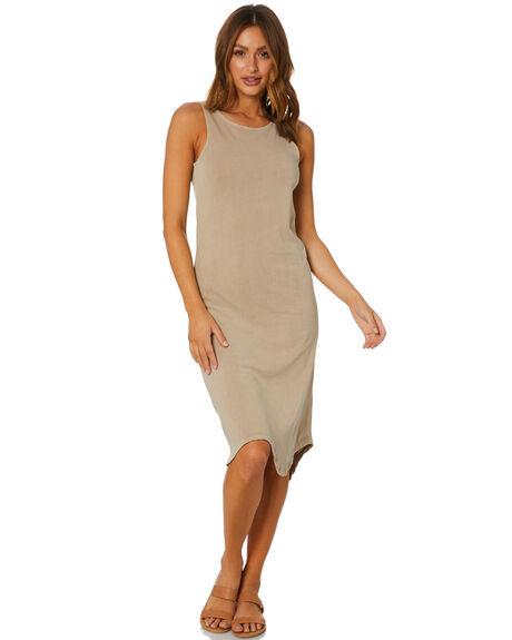 TAN WOMENS CLOTHING SILENT THEORY DRESSES - 6041017TAN