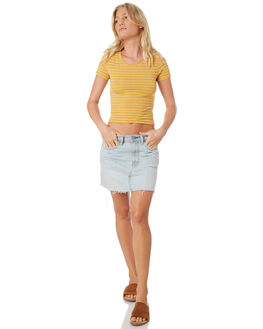 YELLOW WOMENS CLOTHING ALL ABOUT EVE TEES - 6415091YLW