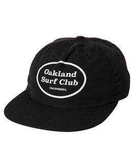 BLACK MENS ACCESSORIES OAKLAND SURF CLUB HEADWEAR - SU18-H2-BBLK