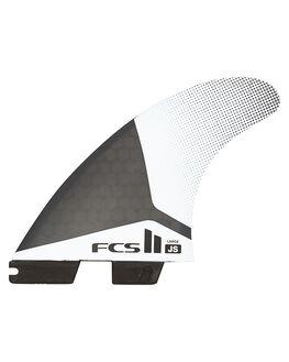 BLACK WHITE BOARDSPORTS SURF FCS FINS - FJSL-PC01-FS-RBKWHT