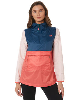 SPICED CORAL MULTI WOMENS CLOTHING THE NORTH FACE JACKETS - NF0A3SV89JR