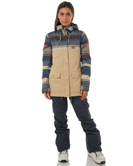 PONCHO STRIPE WMS BOARDSPORTS SNOW DC SHOES WOMENS - EDJTJ03028CJZ3
