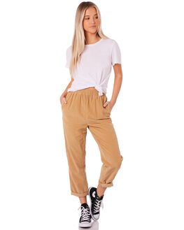 TAN WOMENS CLOTHING SILENT THEORY PANTS - 6012026TAN