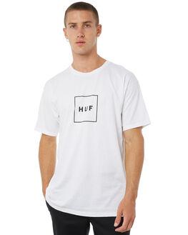 WHITE MENS CLOTHING HUF TEES - TSBSC1118WHT