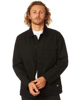BLACK MENS CLOTHING VANS JACKETS - VN0A3WF1BLKBLK