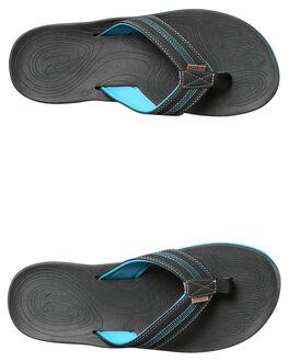 BLACK BLUE MENS FOOTWEAR FREEWATERS THONGS - MO017BKBL