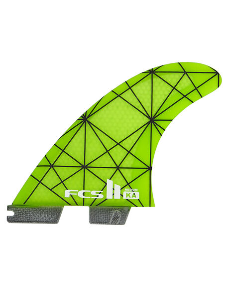 LIME GREEN SURF HARDWARE FCS FINS - FKAM-PC01-MD-TS-R