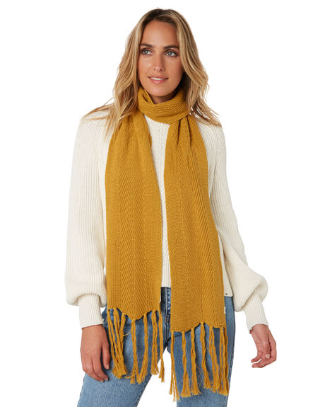MUSTARD WOMENS ACCESSORIES RIP CURL SCARVES + GLOVES - GSACF11041