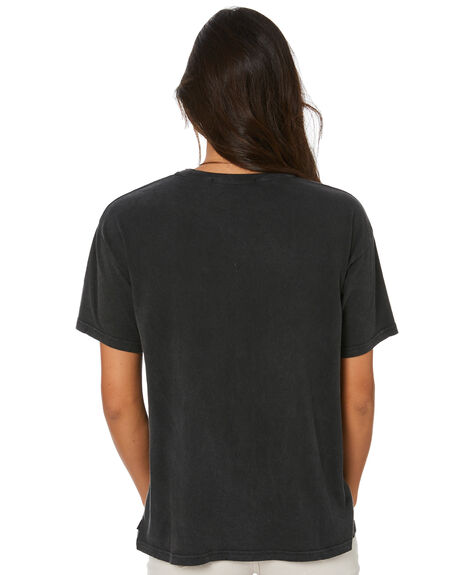 WASHED BLACK WOMENS CLOTHING SILENT THEORY TEES - 6073015WBLK