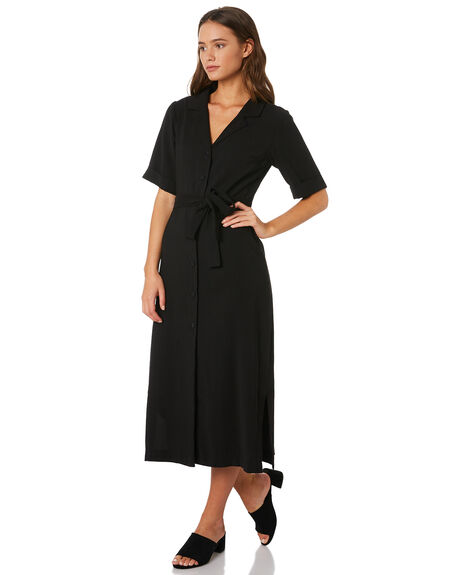 WASHED BLACK WOMENS CLOTHING NUDE LUCY DRESSES - NU23573BLK