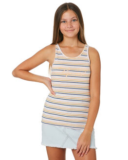 WHITE KIDS GIRLS RIP CURL TOPS - JTEEM11000
