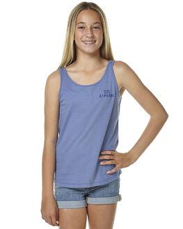 DENIM BLUE KIDS GIRLS RIP CURL SINGLETS - JTECB1BLU