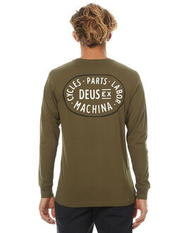 OLIVE MENS CLOTHING DEUS EX MACHINA TEES - DNF71838DOLV