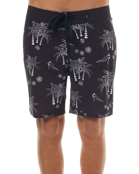 BLACK MENS CLOTHING SWELL BOARDSHORTS - S5171234BLK