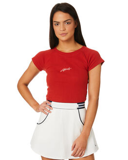 DEEP CHERRY WOMENS CLOTHING AFENDS TEES - W184001CHERR