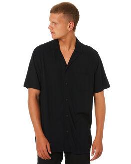DIRTY BLACK MENS CLOTHING BANKS SHIRTS - WSU005DBL
