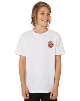 WHITE KIDS BOYS SANTA CRUZ TOPS - SC-YTD9264WHT