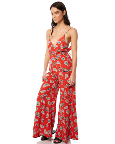 RED WOMENS CLOTHING TIGERLILY PLAYSUITS + OVERALLS - T381427RED