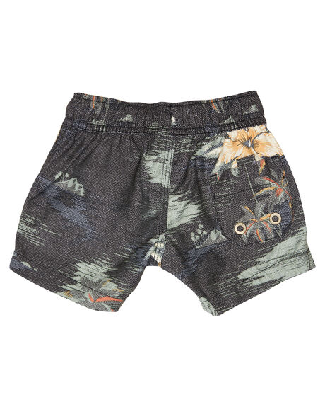 BLACK YELLOW KIDS BOYS RIP CURL BOARDSHORTS - OBOMX11640