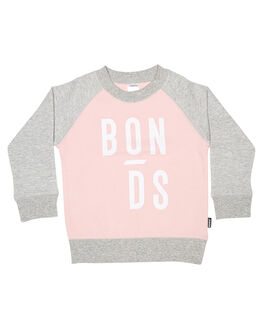 BLOSSOM PINK GREY KIDS TODDLER GIRLS BONDS JUMPERS - KXGXKQSJ