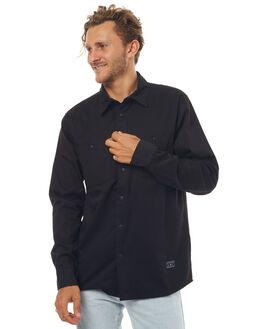 BLACK MENS CLOTHING AFENDS SHIRTS - 05-02-106BLK