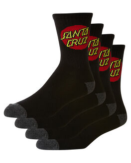 BLACK MENS CLOTHING SANTA CRUZ SOCKS + UNDERWEAR - SC-MZNC099BLK