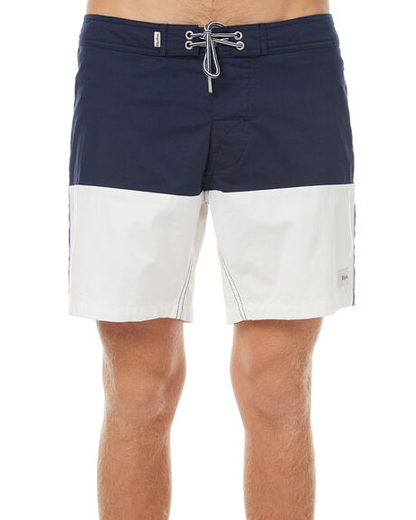 NAVY MENS CLOTHING RHYTHM BOARDSHORTS - OCT17M-TR06-NAV