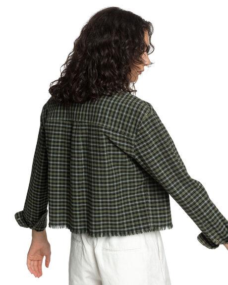DEEP DEPTHS CHECK WOMENS CLOTHING QUIKSILVER FASHION TOPS - EQWWT03038-CZC1