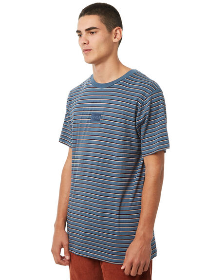 CHINA BLUE MENS CLOTHING RVCA TEES - R181041CBLU