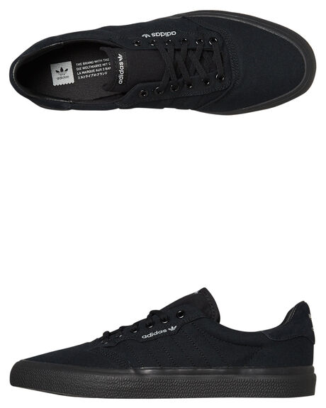 BLACK GREY MENS FOOTWEAR ADIDAS SKATE SHOES - SSB22713BLKGM