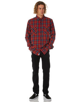 RED MENS CLOTHING ZOO YORK SHIRTS - ZY-MSB8088RED