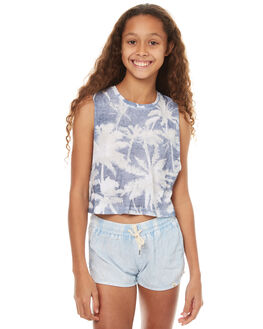 BLUE STATE KIDS GIRLS BILLABONG SINGLETS - 5571182BLU