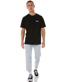 BLACK MENS CLOTHING STUSSY TEES - ST085012BLK