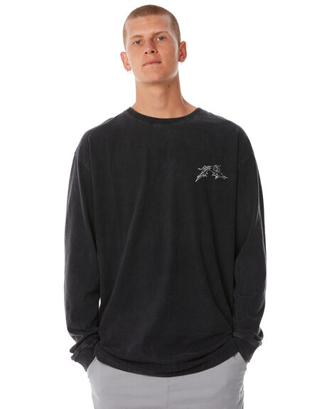 BLACK MENS CLOTHING RUSTY TEES - TTM1993BLK