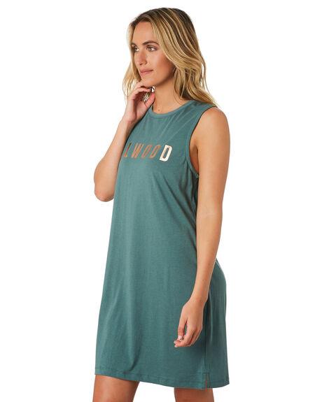 HUNTER GREEN WOMENS CLOTHING ELWOOD DRESSES - W01713HTRGR
