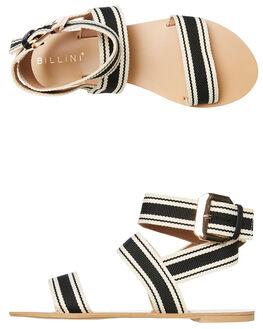 BLACK STRIPE WOMENS FOOTWEAR BILLINI FASHION SANDALS - S590BLKSTR