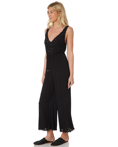 BLACK WOMENS CLOTHING TIGERLILY PLAYSUITS + OVERALLS - T382431BLK