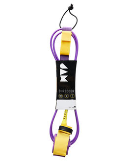 PURPLE YELLOW BOARDSPORTS SURF JAM TRACTION LEASHES - LH6M6FPURP
