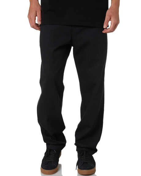 BLACK MENS CLOTHING OBEY PANTS - 142020131BLK