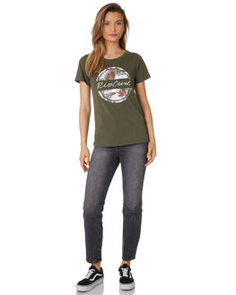 OLIVE WOMENS CLOTHING RIP CURL TEES - GTEZD10058