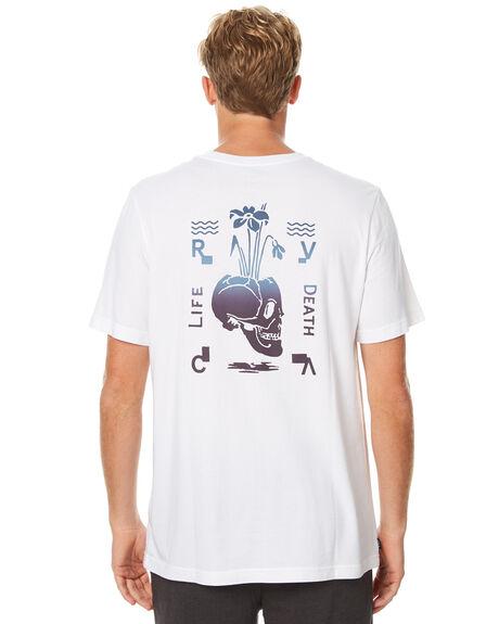 WHITE MENS CLOTHING RVCA TEES - R171065WHT