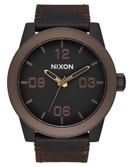 BLACK BROWN BRASS MENS ACCESSORIES NIXON WATCHES - A2432786