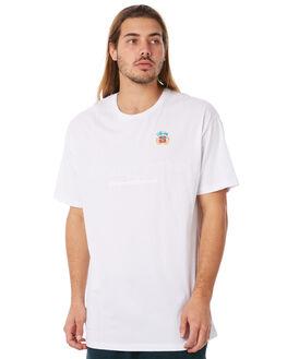WHITE MENS CLOTHING STUSSY TEES - ST082009WHT