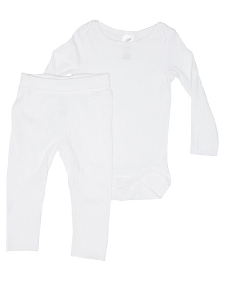 WHITE KIDS BABY BONDS CLOTHING - BXBFWIT