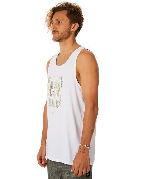 WHITE MENS CLOTHING HURLEY SINGLETS - AR4204100