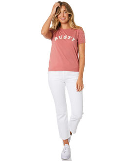WASHED RED WOMENS CLOTHING RUSTY TEES - TTL0990WIR
